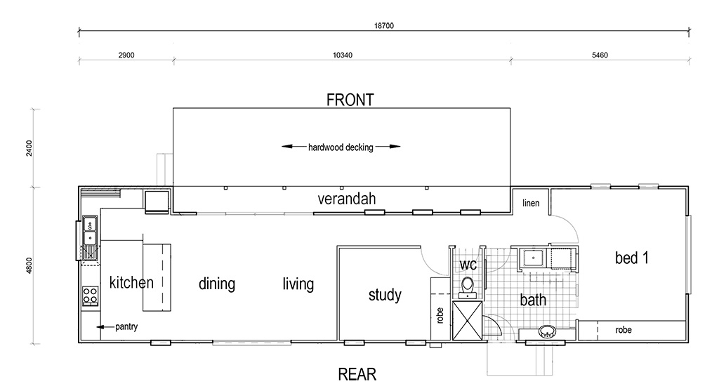Urban Cabin floorplan